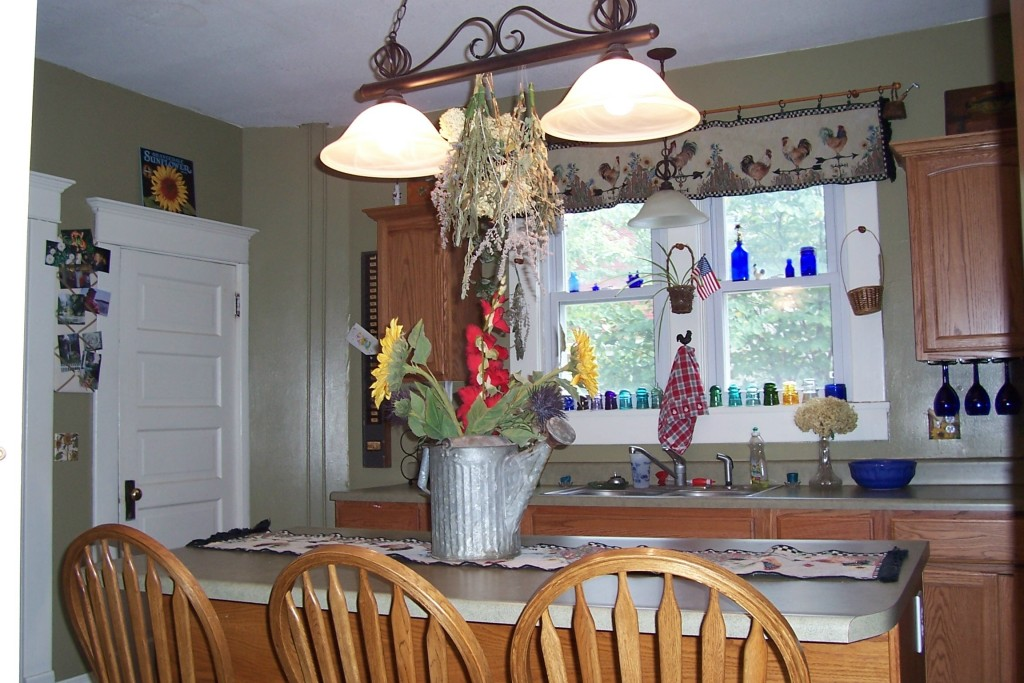kitchen from swinging door dining room