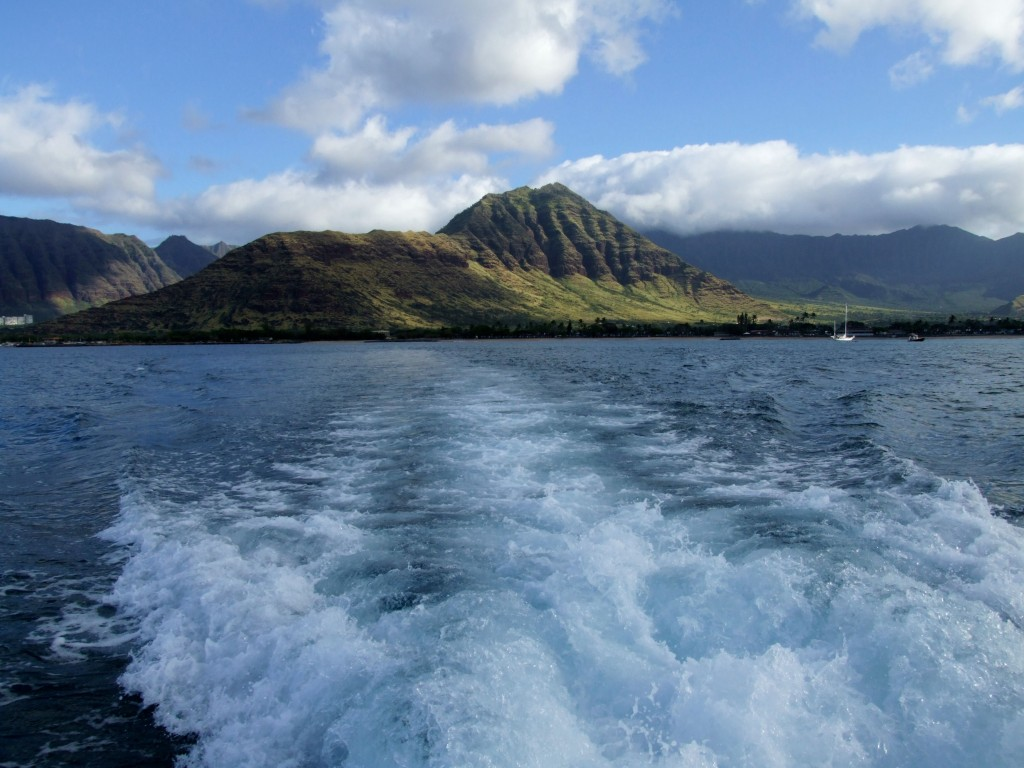 view from boat in hawaii